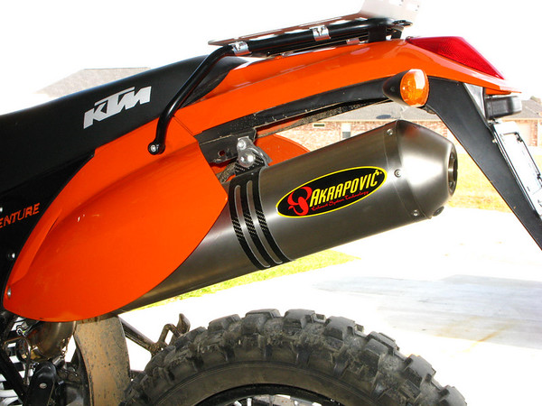 akrapovic exhaust and ktm 640 adv | adventure rider